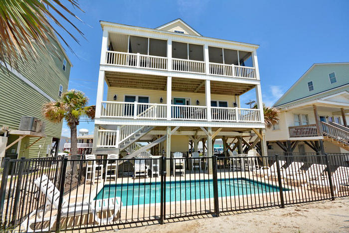 Surf 39 s up cherry grove oceanfront luxury vacation house - 3 bedroom houses for rent in myrtle beach sc ...