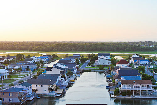 At The North End Of Myrtle Beach Cherry Grove Lies Between Atlantic Ocean And A Beautiful Salt Marsh Inlet Visitors Have Been Vacationing